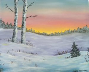 "Art Fun Paint Night ""Winter Birches"""