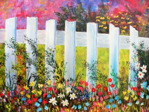 Fences and Flowers Art Fun Paint Night, Noel Seniors Hall, June 22