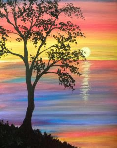 "Buy Ticket""Art Fun Paint Night"" , Oyster Pond Fire Hall, Sun. June 4 , 2:00pm."