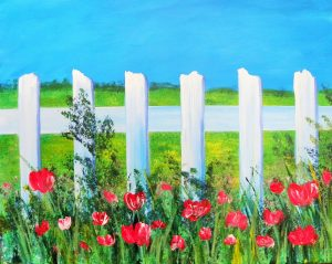 Blue Skies and Fences Art Fun Paint Night, PAUSE Wellness Centre, July 13
