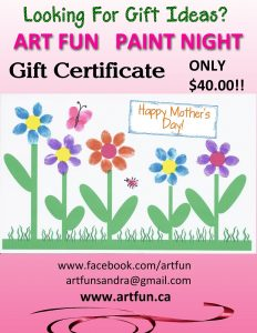 "Buy Ticket""Art Fun Paint Night ""Gift Certificate"