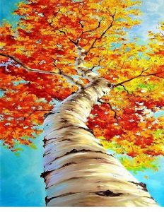 Autumn Fall Tree Art Fun Teen Paint Night https://sandramacdonald.com/art-fun/